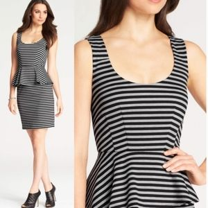 Ann Taylor gray and black peplum dress
